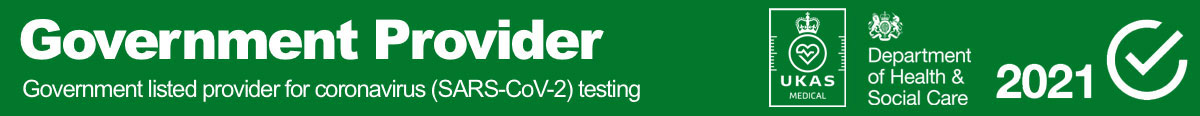 Government listed provider for COVID testing