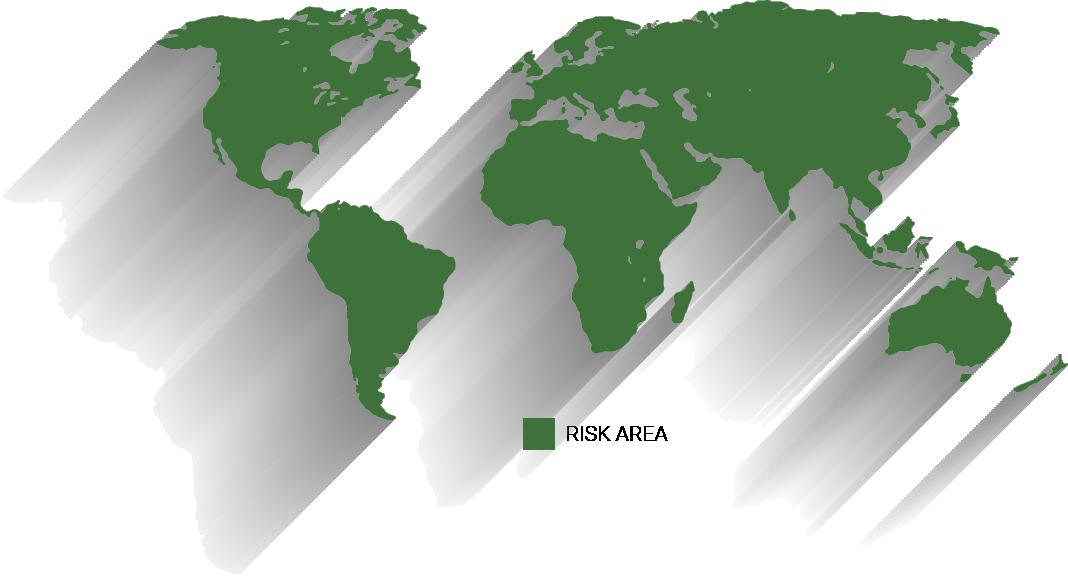 Typhoid Risk Areas